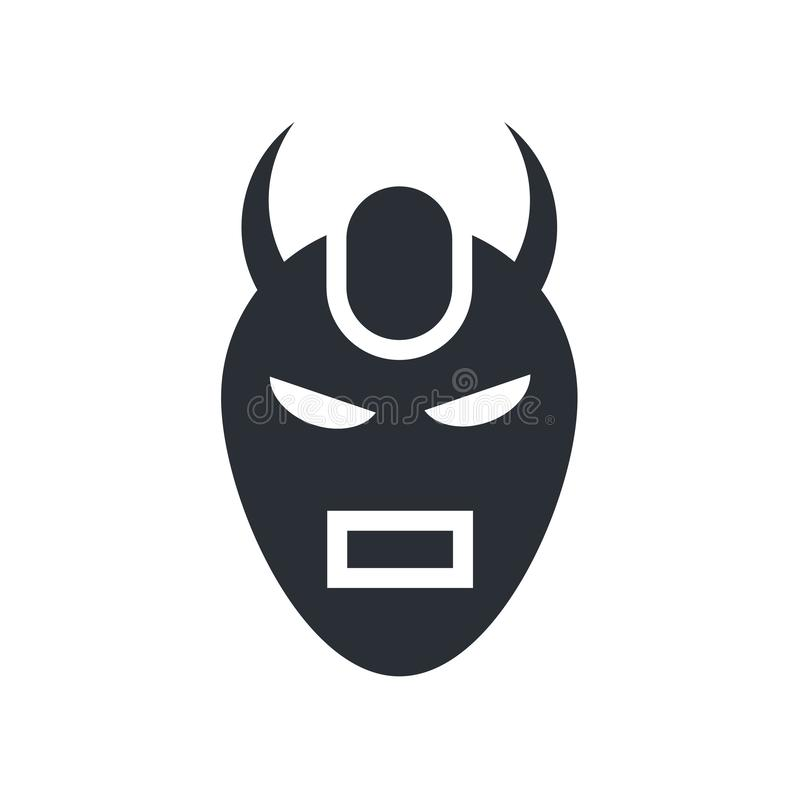 Devil mask icon vector sign and symbol isolated on white background, Devil mask logo concept vector illustration