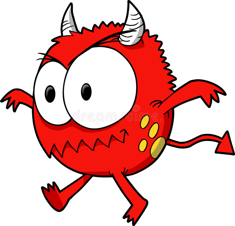 Devil Monster Vector royalty free illustration