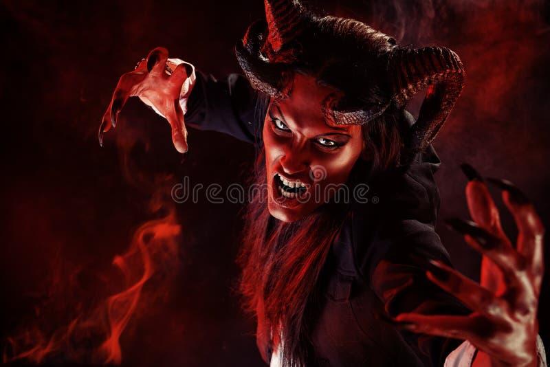 Devil portrait stock images