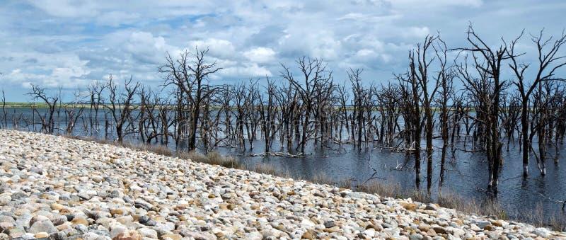 Devil's湖-北达科他,美国 免版税库存照片