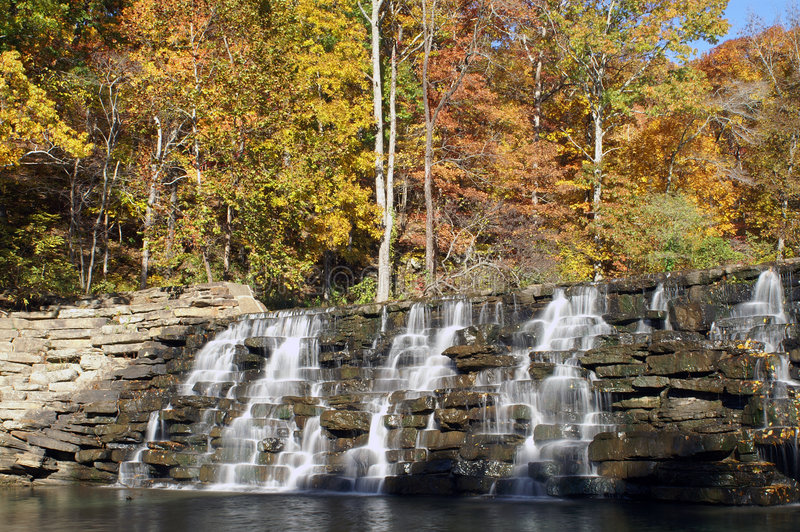 Devil's Den Waterfall royalty free stock photos