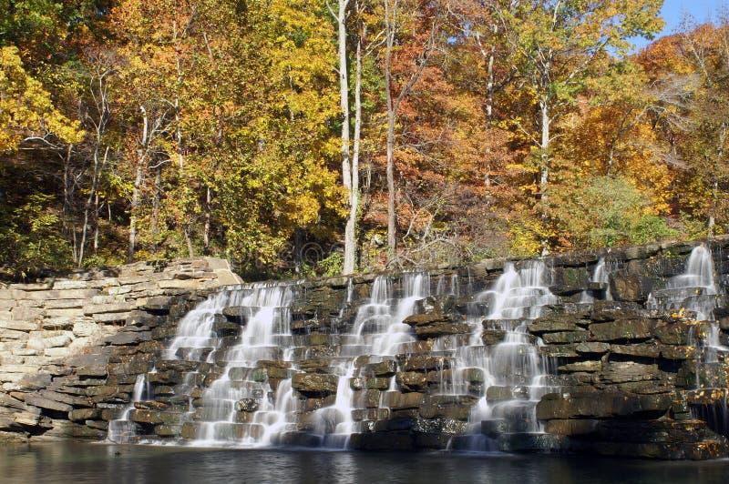 Devil's Den Waterfall royalty free stock photos