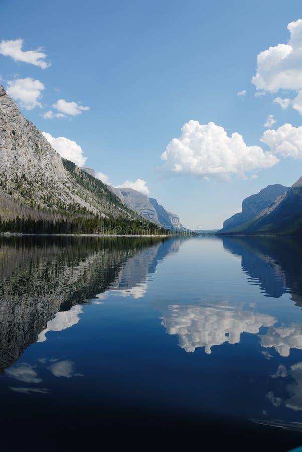 Devil's Gap at Minnewanka Lake, Banff, Canada. Summer view of Devil's Gap at Minnewanka Lake, Banff National Park, Canada stock images