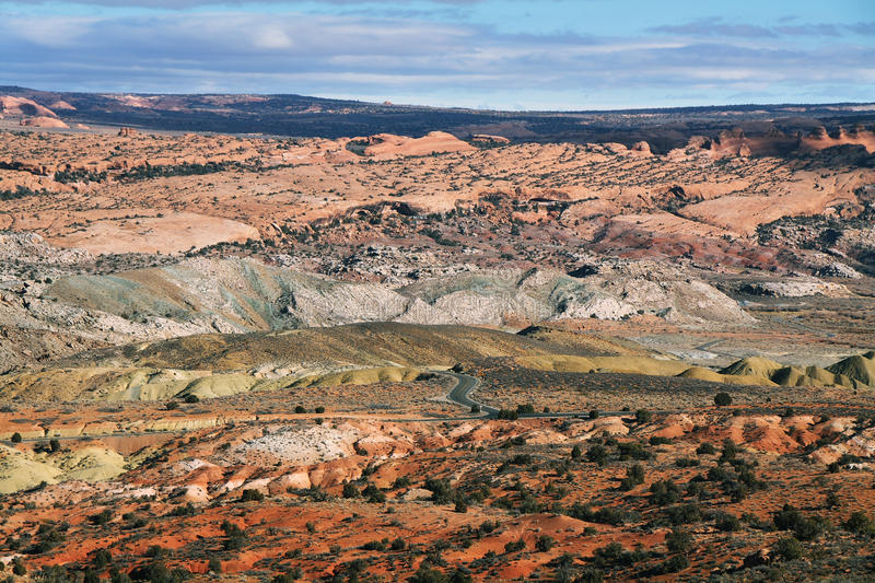 Devil's garden in Arches national park stock images