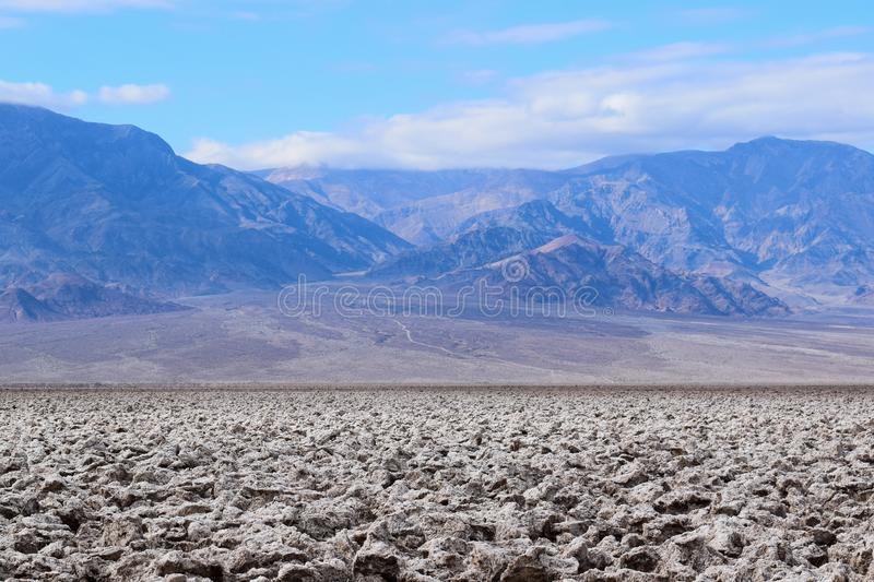 Devil`s Golf Course in the Death Valley royalty free stock images