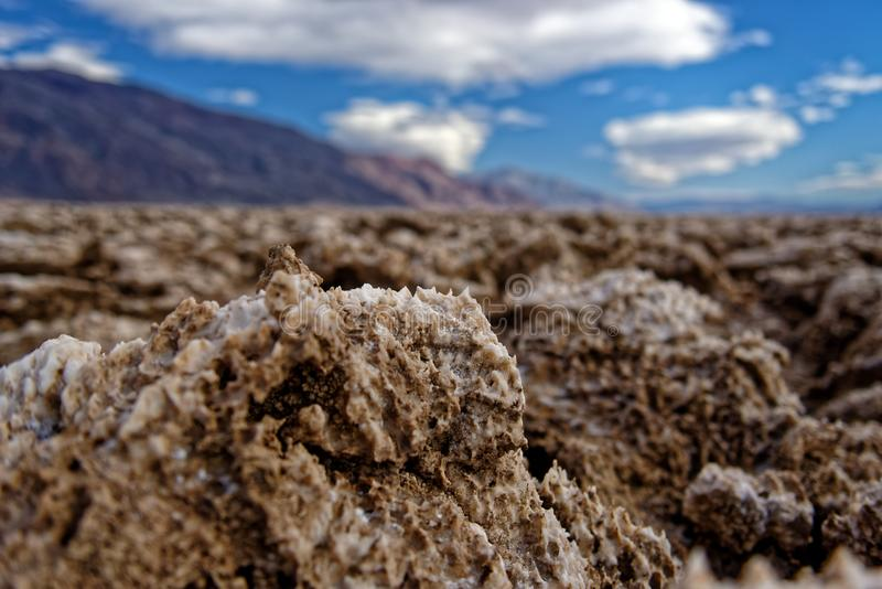 Devil's Golf Course, Death Valley National Park landscape, California royalty free stock image