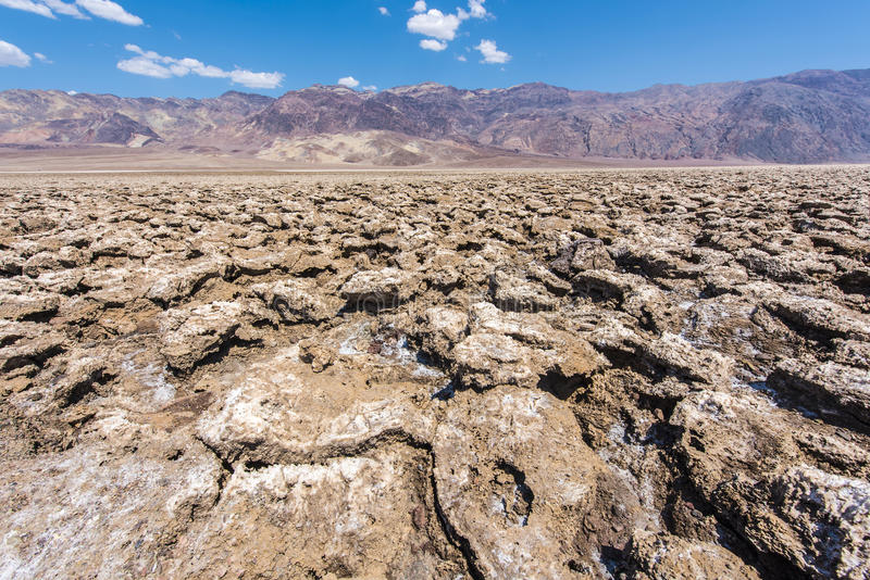 Devil's Golf Course. Vast salt desert of Devil's Golf Course in Death Valley National Park. California, USA stock image