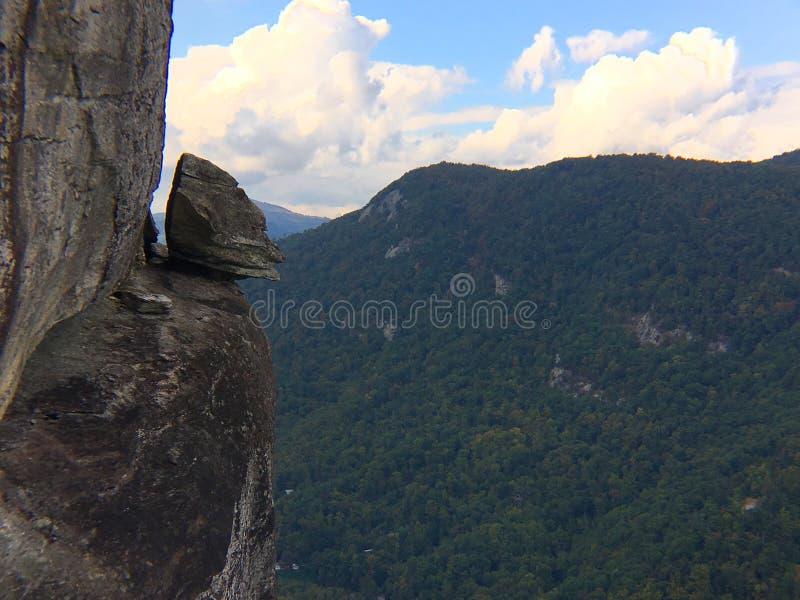 Devil's Head formation, Chimney Rock State Park, North Carolina stock images