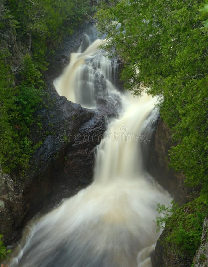 Devil's Kettle Waterfall royalty free stock photos