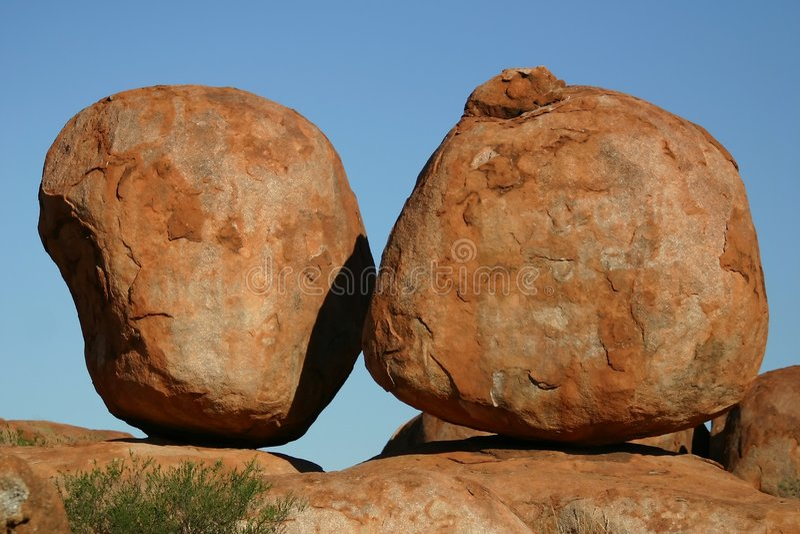 Download Devil's Marbles stock photo. Image of devils, tree, rock - 1575650