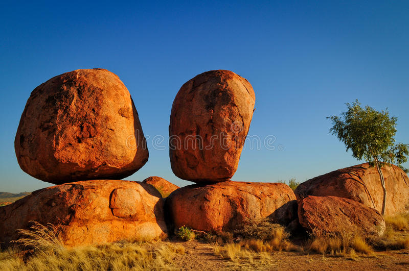Devil's Marbles stock photography