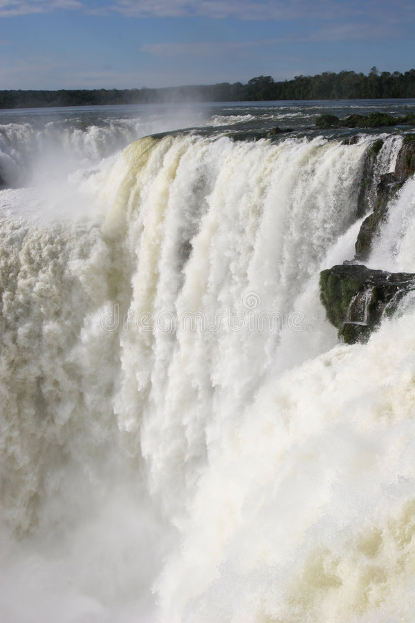 Devil's throat, Iguazu falls stock images