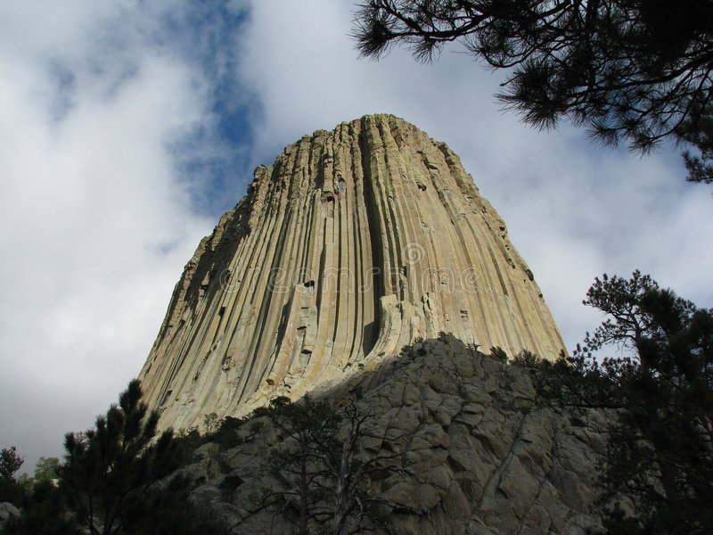 Devil's Tower stock image