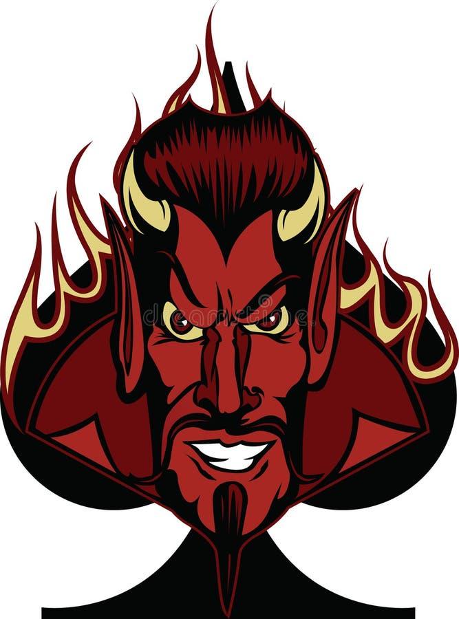 Devil_Spade illustration de vecteur