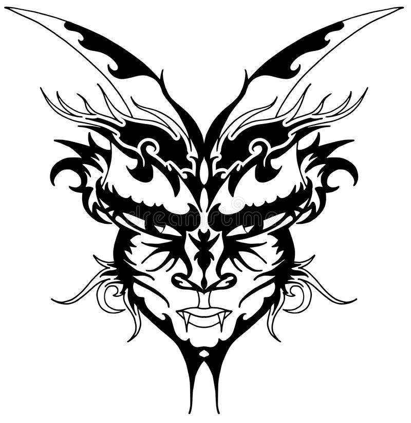 Download Devil tattoo stock vector. Image of ornamental, icon - 22842725