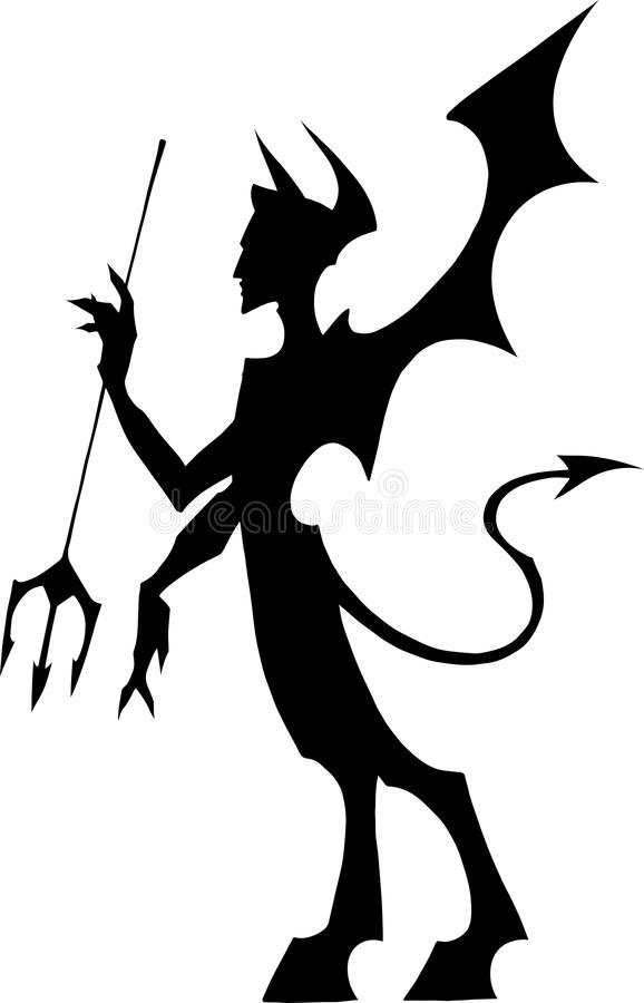 Free Devil With A Pitchfork Royalty Free Stock Images - 54501269