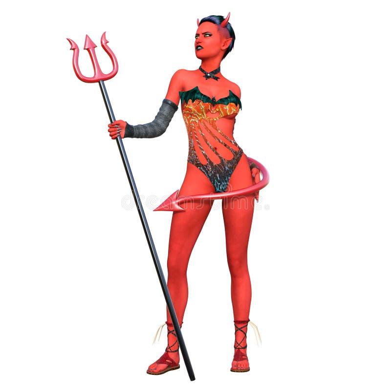 Devil woman royalty free stock photo