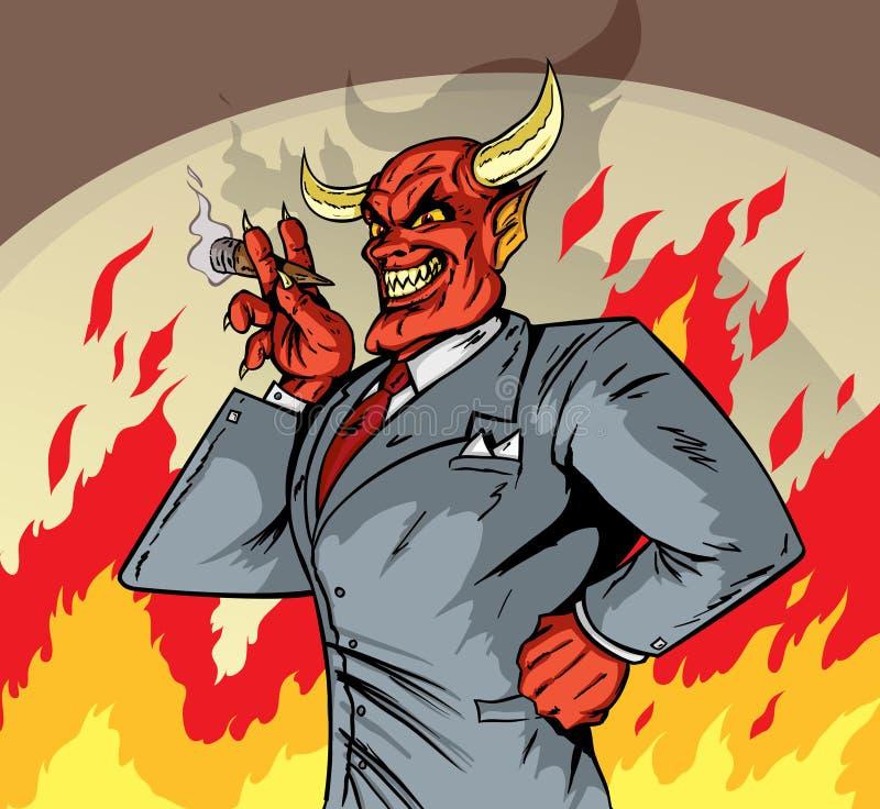 Deviled biznesmen royalty ilustracja