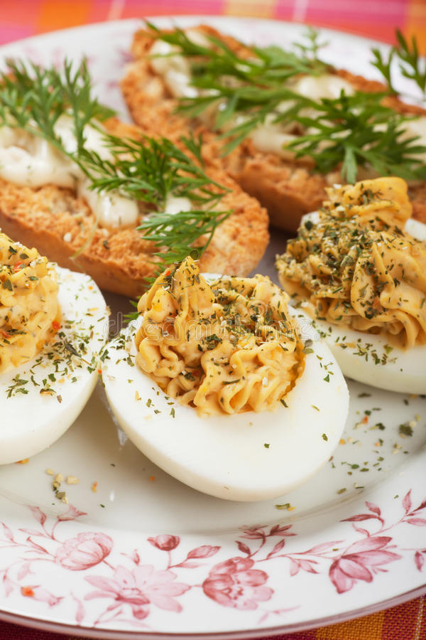 Download Deviled eggs stock image. Image of sausage, breakfast - 32870061