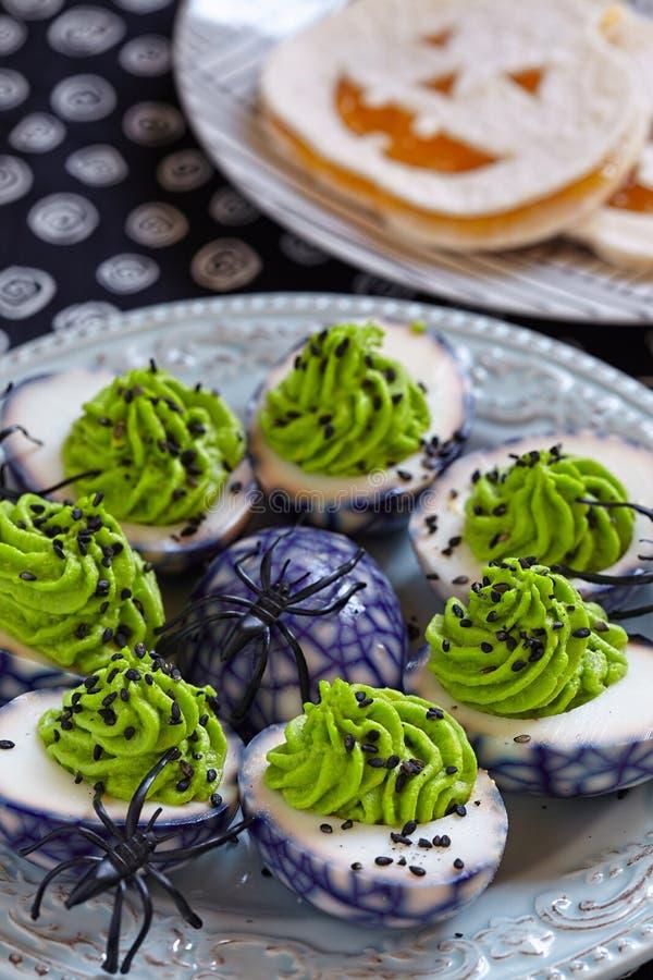 Deviled jajka dla Halloween zdjęcie royalty free