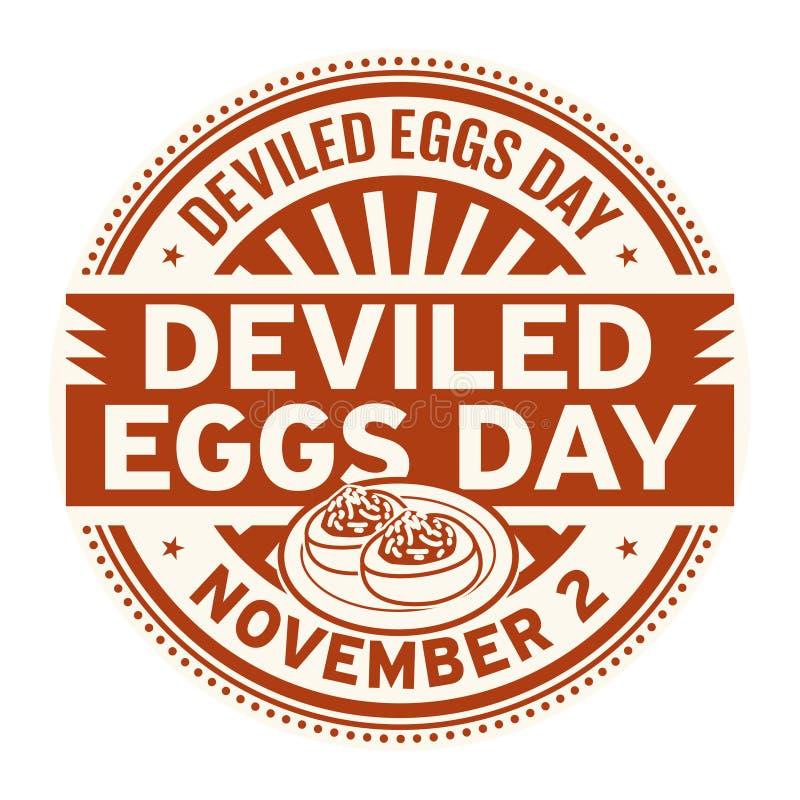 Deviled jajka dni, Listopad 2 ilustracja wektor