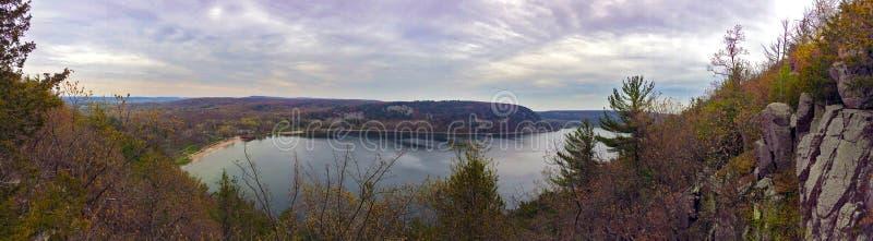 Devils湖在威斯康辛 免版税库存图片