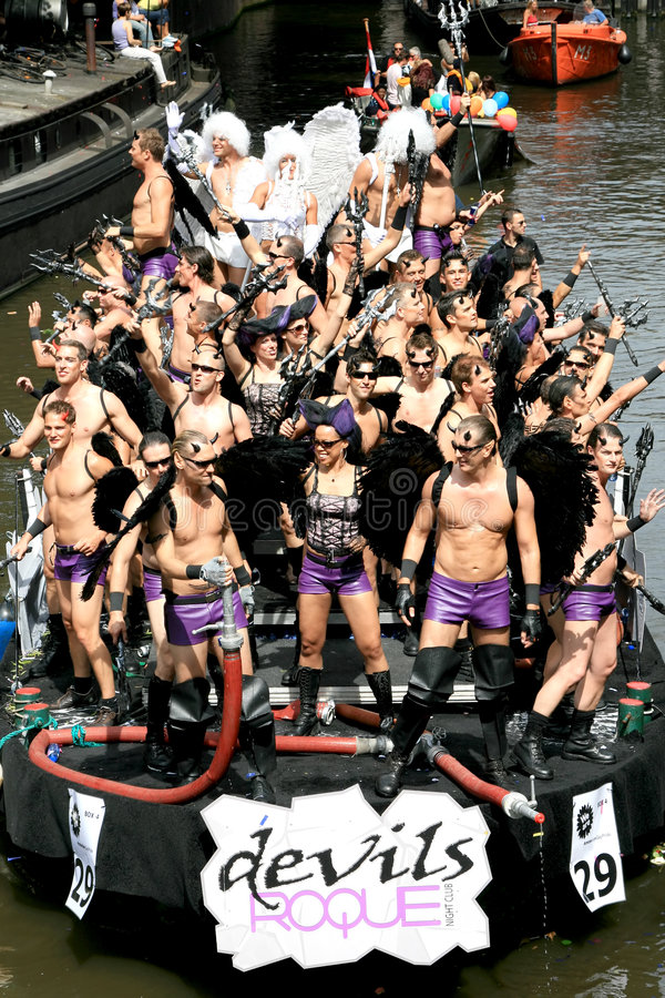 Download Devils During Canal Parade Amsterdam, 2008 Editorial Photography - Image: 5968002