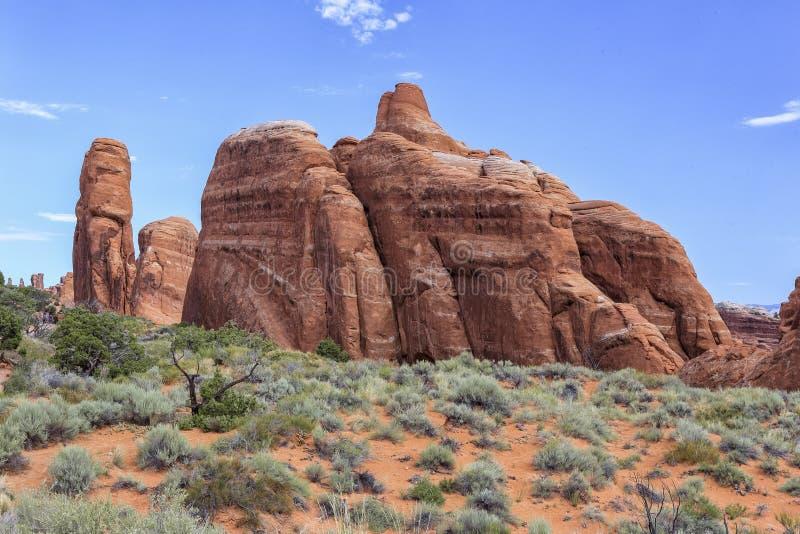 Devils Garden Trail, Arches National Park, Utah stock images