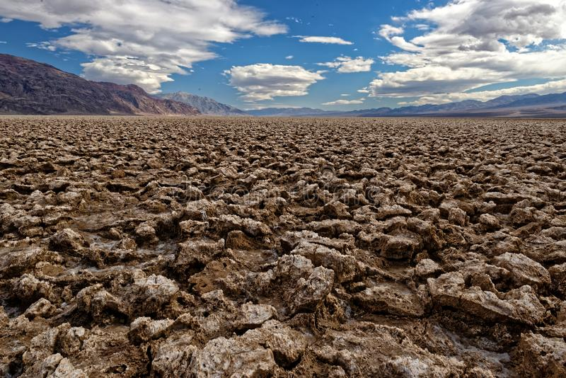 Devils Golf Course in Death Valley stock photo