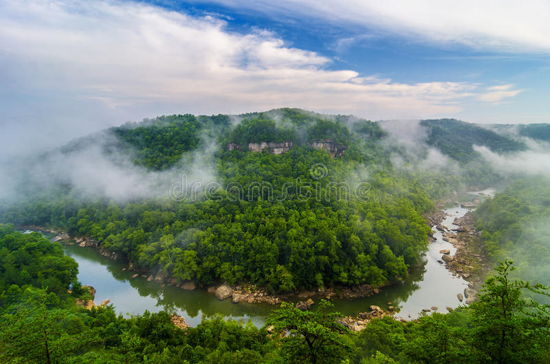 Devils Jump, Big South Fork of the Cumberland River. The Big South Fork of the Cumberland River as seen From Devils Jump Overlook in the Kentucky section of the stock image
