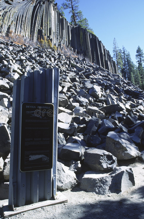 Devils Postpile National Monument in California royalty free stock photo