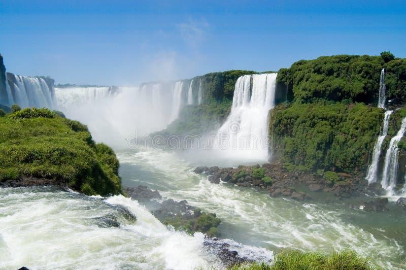 Devils Throat in Iguazu Falls Brazilian Side royalty free stock photos