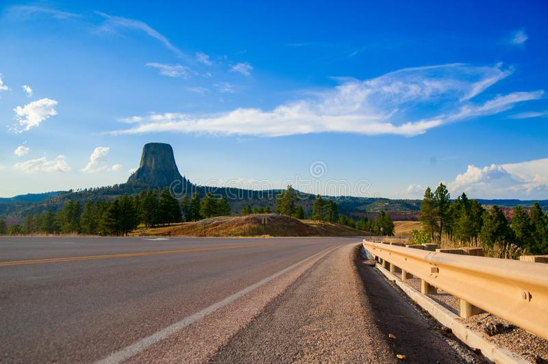 Devils Tower is located in in Crook County, northeastern Wyoming. Also, known as United States National Monument. The world is big enough stock images