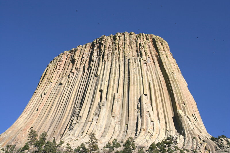 Devils Tower National Monument, Wyoming stock images