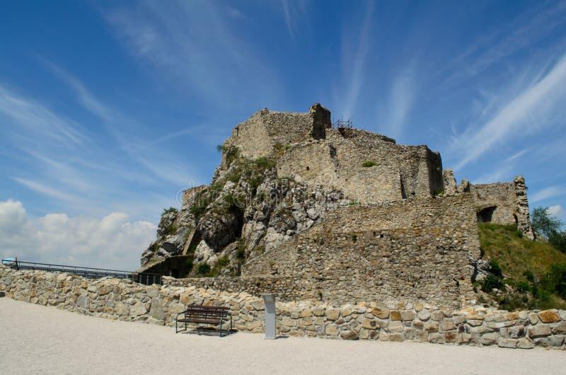 Devin Castle in Bratislava stock image