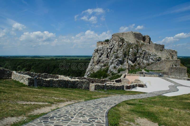 Devin Castle in Bratislava stock photo