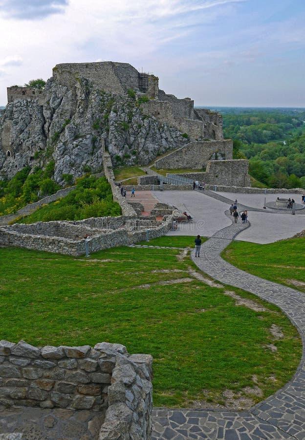 Devin Castle, Bratislava slovakia fotografia stock
