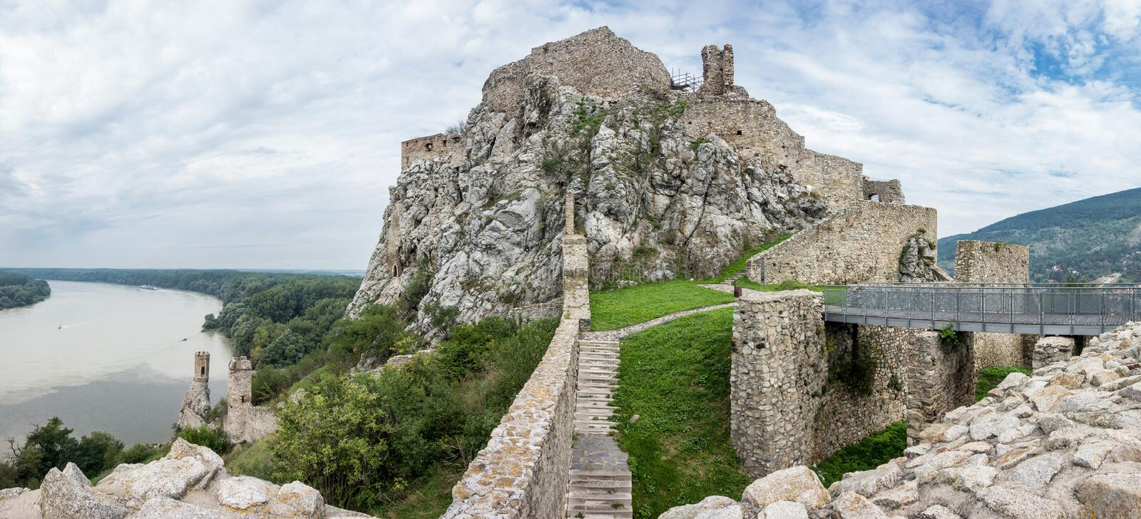 Devin castle royalty free stock photo