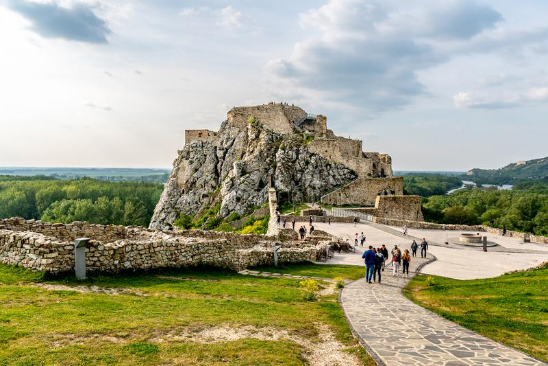 Devin Castle Slovakia 13 imagens de stock