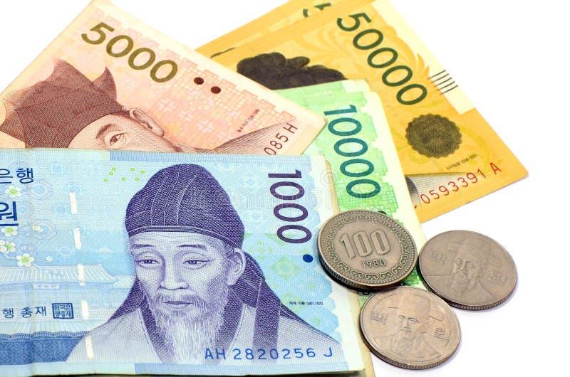 Devise coréenne. image libre de droits