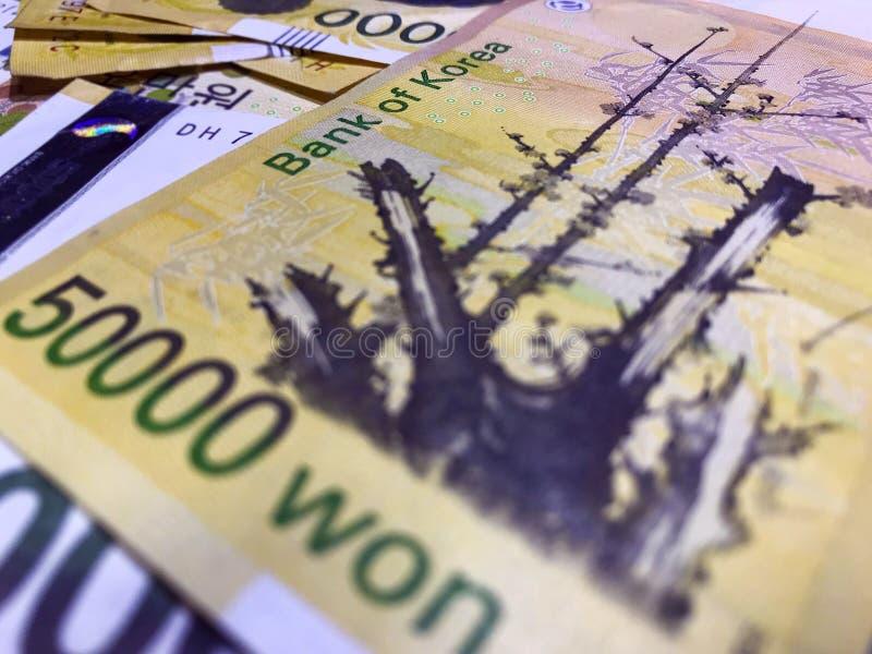 Devise de Coréen d'argent images stock