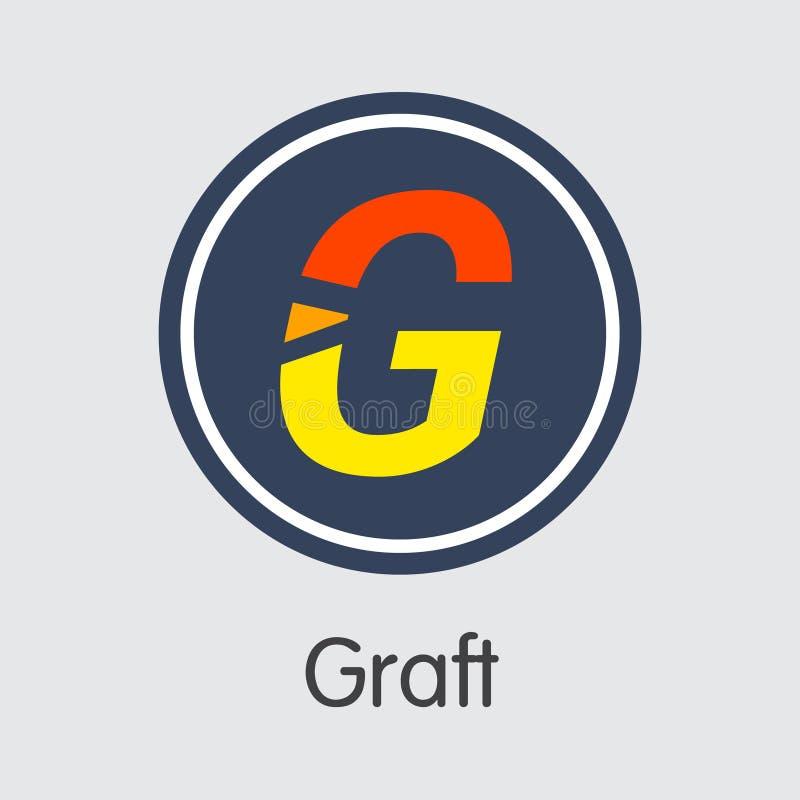Devise de Digital de greffe - symbole de pièce de monnaie de vecteur illustration stock