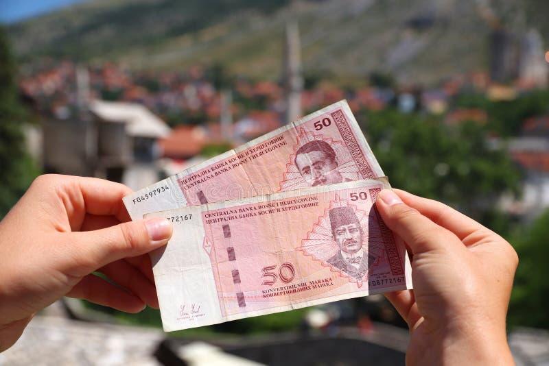 Devise de la Bosnie images stock