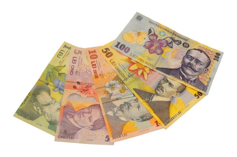 Devise de Roumain de billet de banque de Lei images stock