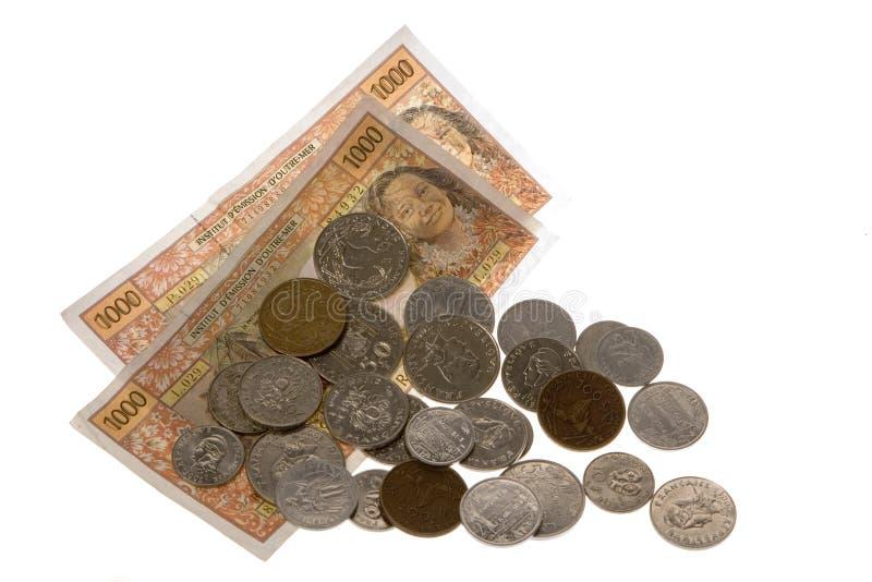 Devise et argent du Tahiti photographie stock