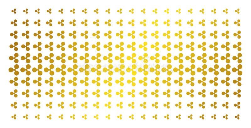 Devise Matrix tramé d'or d'ondulation illustration de vecteur