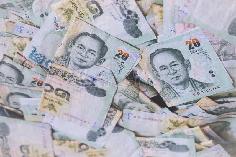 Devise thaïlandaise d'argent de la Thaïlande de baht thaïlandais de billet de banque photos libres de droits