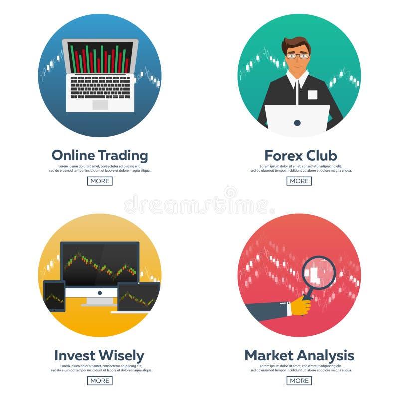Devisen vermarkten und handeln Devisenclub Onlinehandel Technologien im Geschäft und im Handel Künstliche Intelligenz Aktienmarkt lizenzfreie abbildung