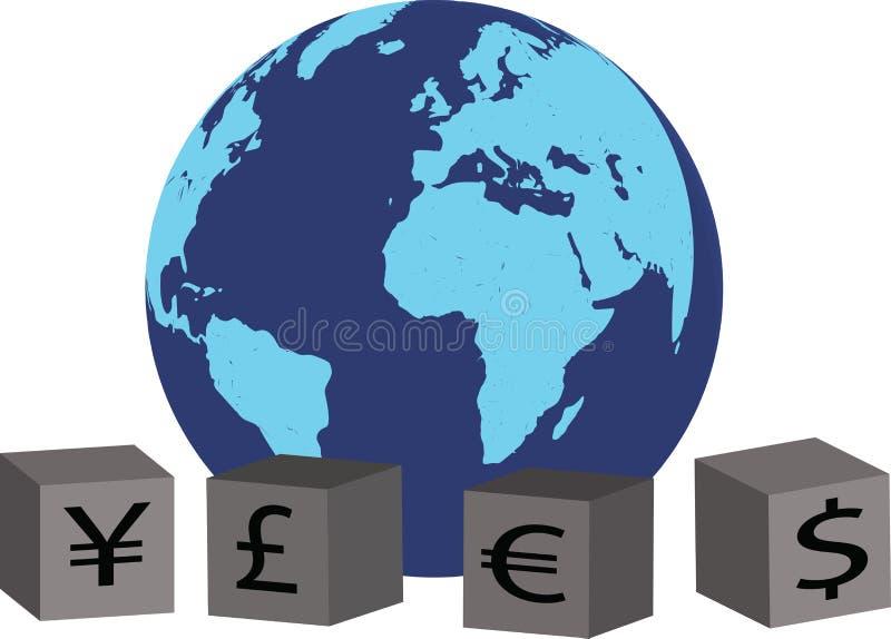 Devises globales illustration stock