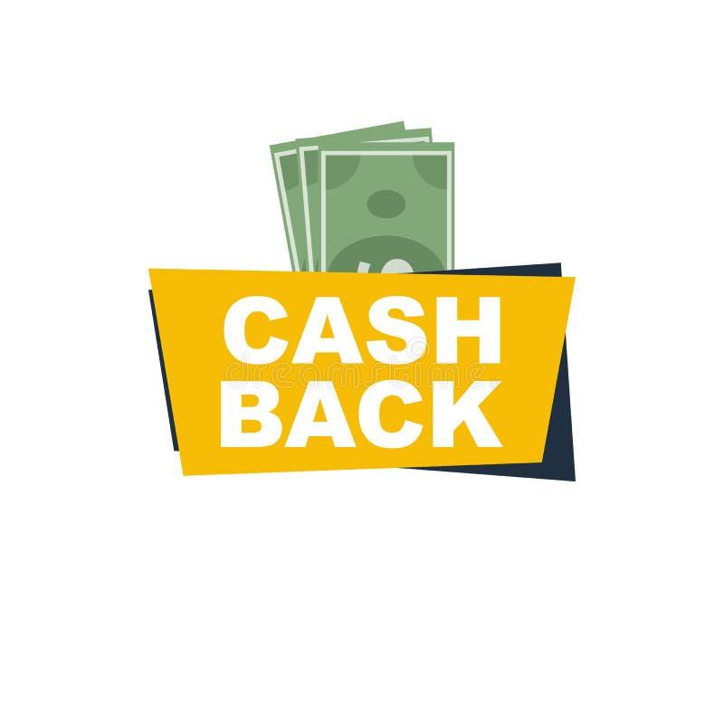 Devolución de efectivo stock de ilustración